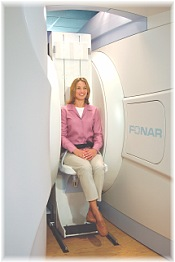 Patient in the FONAR Stand-Up MRI